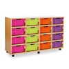 Mobile Tray Storage Unit With 16 Deep Trays  small