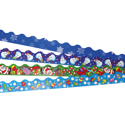 Assorted Christmas Display Border Trimmers 48pk  large