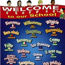 Multilingual Welcome To Our School Sign  medium