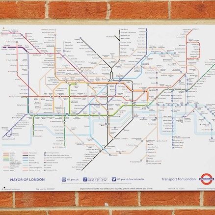 Tube Map Signboard  large