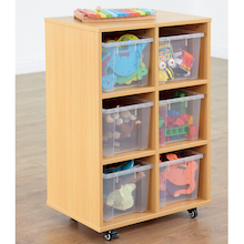 Open Storage Unit with Six Large Compartments  medium
