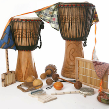 African Instruments 13 Players  medium