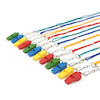 Colourful Plastic Whistles 12pk  small