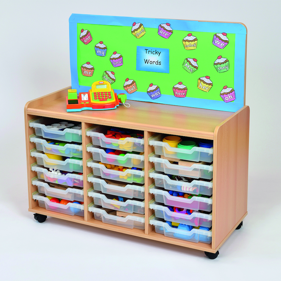 Buy tray storage unit with cork display board tts for Cork board displays