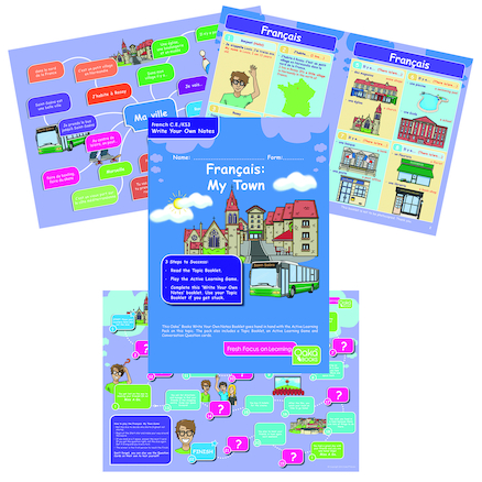 KS3 French My Town Revision Activity Cards 10pk  large