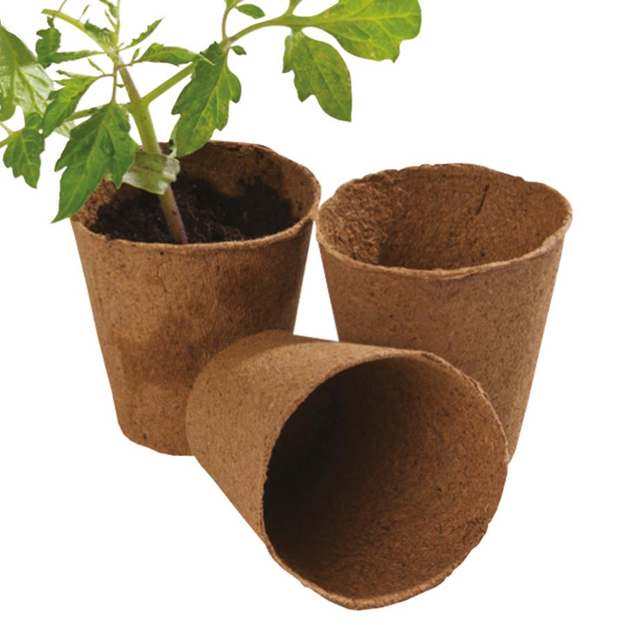 Buy round fibre plant pots tts for Flower pots with plants