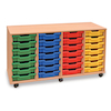 Mobile Tray Storage Unit With 28 Shallow Trays  small