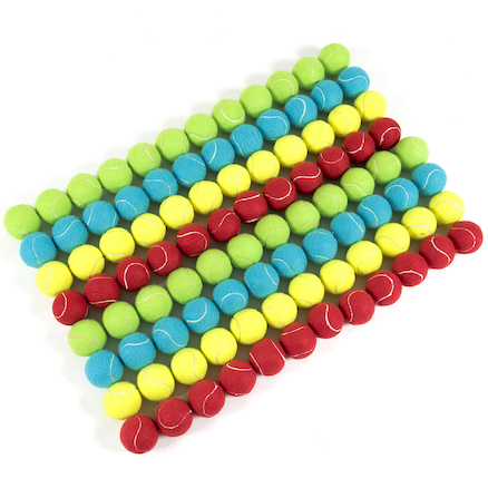 Bucket of Coloured Tennis Balls 96pk  large
