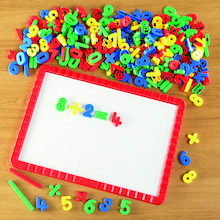 Coloured Magnetic Numbers Classpack 288pcs  medium