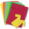Coloured Hessian Sheets 6pk  small