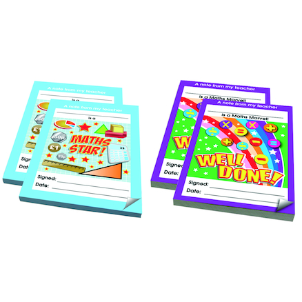 Maths Reward Notepads 4pk  large