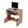 Mobile Single Computer Desk Workstation  small