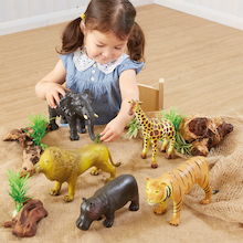 Small World Jumbo Wild Animal Set  medium