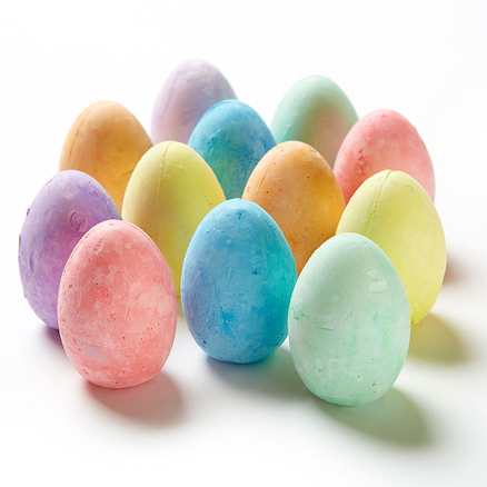 Egg Shaped Chalks Assorted 12pk  large