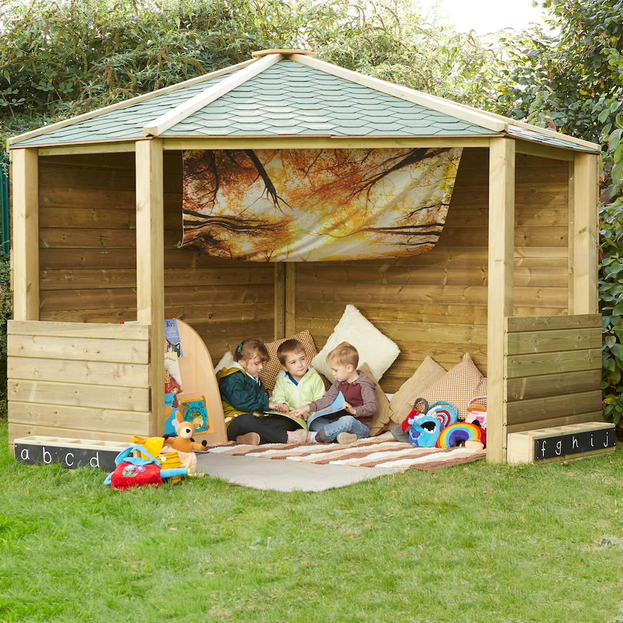 Buy Wooden Outdoor Play Corner Cottage Tts