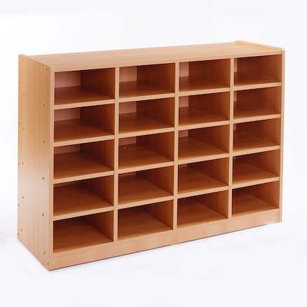 Open Storage Unit with 20 Small Compartments  large