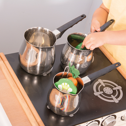 Stainless Steel Saucepan Collection 3pcs  large