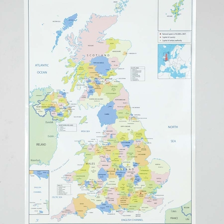 UK Administrative Map A1  large