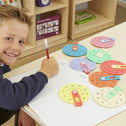 Colourful Maths Number Wheels  large
