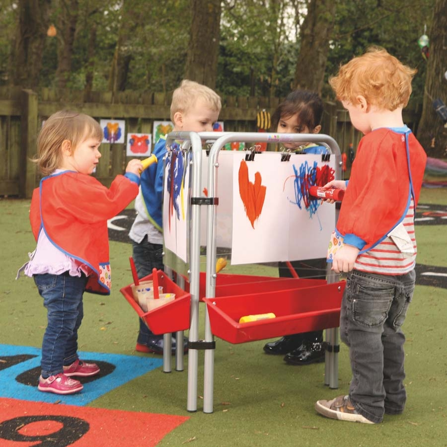 Buy Outdoor Easy Clean Toddler Painting Easel Tts