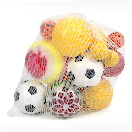 Jumbo 20 Mixed Foam and PVC Play Balls with Bag  large