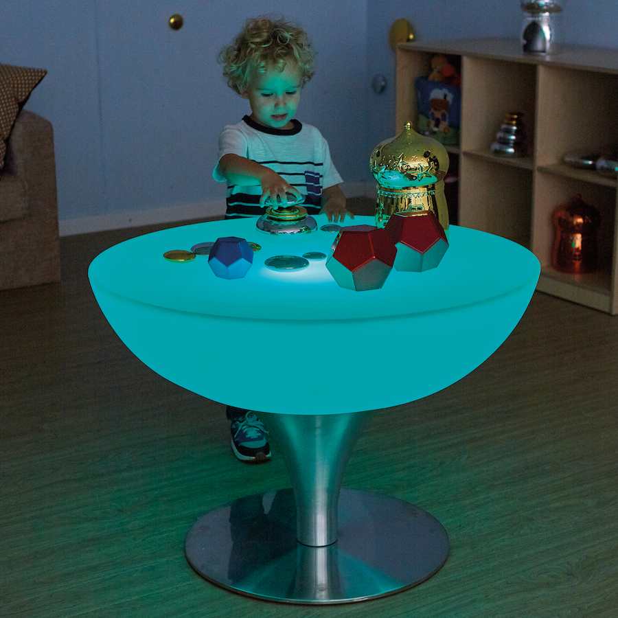 ... Round Light Up Colour Changing Glow Table Small