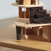Wooden Small World Fairy Tree House Set  small