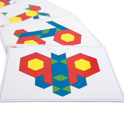 Basic Pattern Block Cards  large