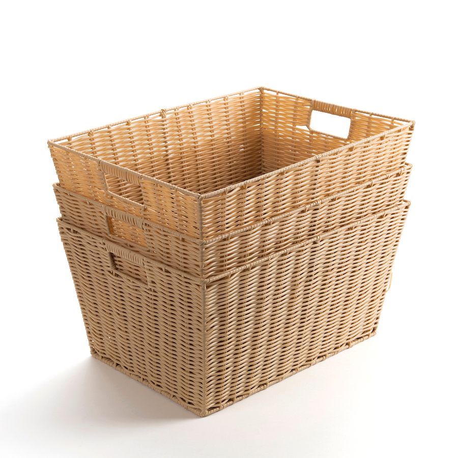 Traditional Small Wicker Basket With Liner&handle : Buy faux plastic wicker baskets tts