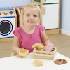 Role Play Basket of Multicultural Wooden Bread  small
