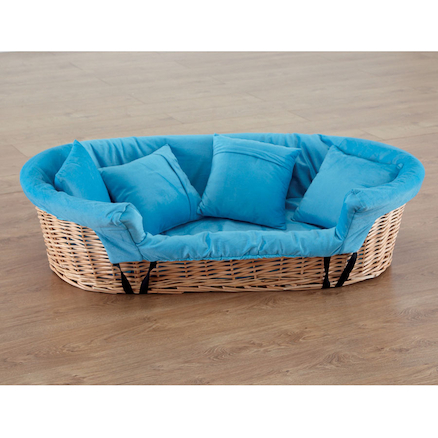 Wicker Basket Cosy and Cushion Set  large