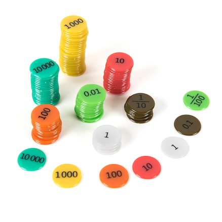 Coloured Double Sided Place Value Counters  large