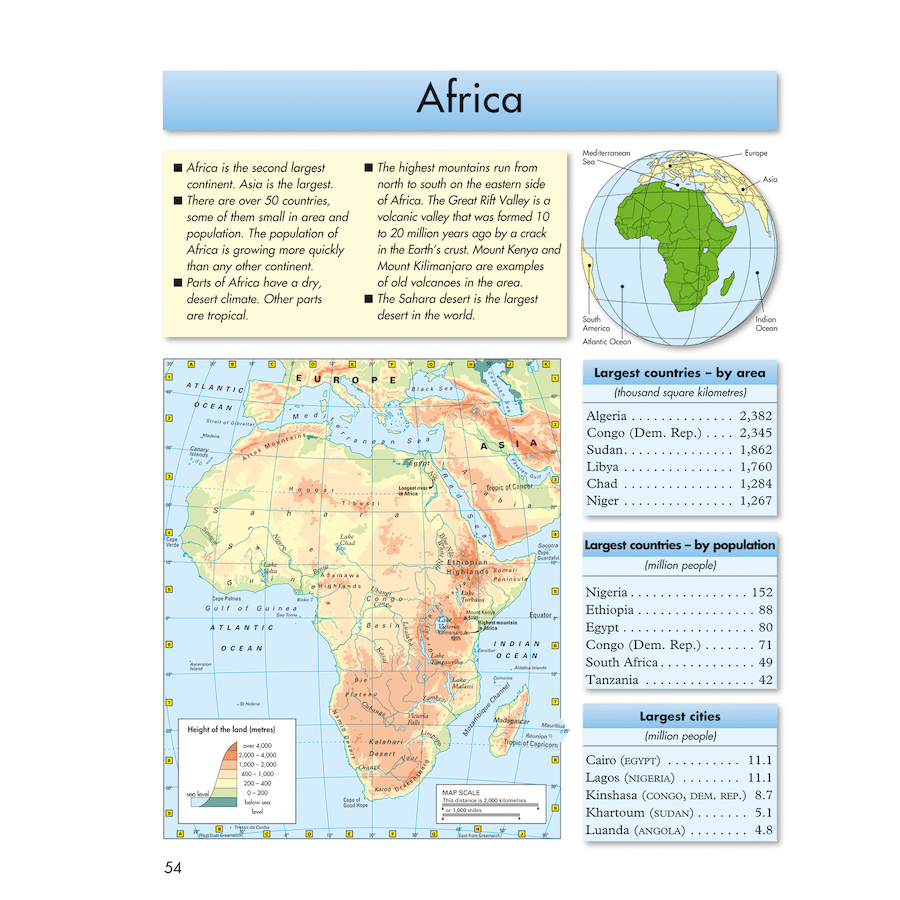 Buy Phillips Junior School Atlas KS TTS - Map of egypt for primary school