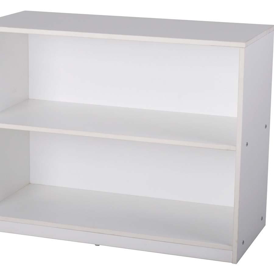Buy Basic White Two Shelves Bookcase Tts