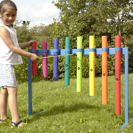 Outdoor Boomwhacker Music Frame  large