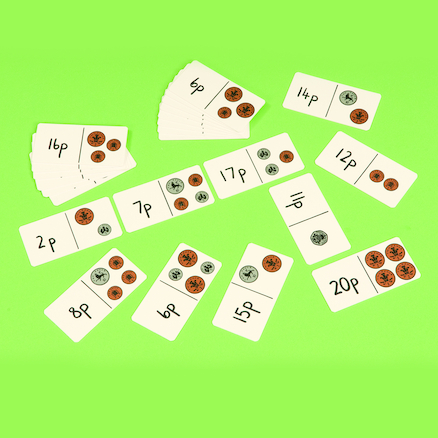 Up to 10p and 20p Laminated Dominoes  large