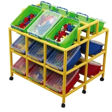 Rainbow 18 Tilt Bin Storage Unit  medium