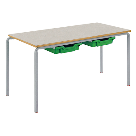 Crush Bent Rectangular Tray Table L1100mm  large