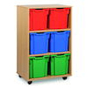 Mobile Tray Storage Unit With 6 Jumbo Trays 2x3  small
