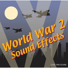World War 2 Sound Effects CD  medium