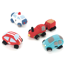 Fairtrade Crocheted Transport Cars Set 4pcs  medium