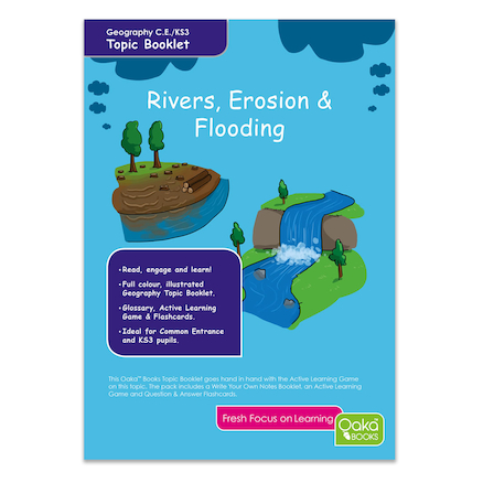 KS3 Rivers, Erosion and Flooding Revision Cards  large