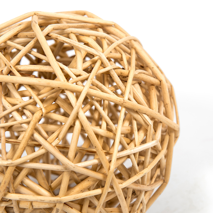 Outdoor Natural Wooden Beads and Wicker Balls  large