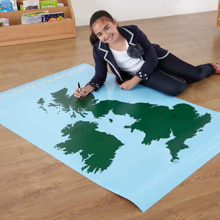 Large Wipeable Map of the UK 150 x 100cm  large