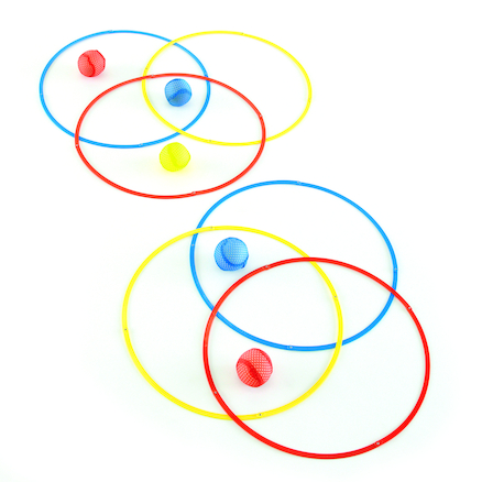 Colourful Fold Away Grouping Circles 6pcs  large
