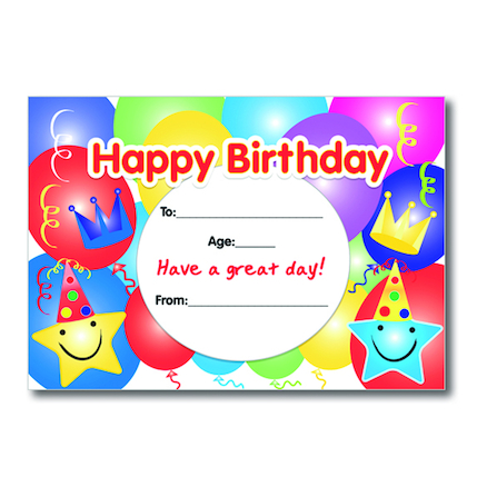 A5 Birthday Certificates 40pk  large