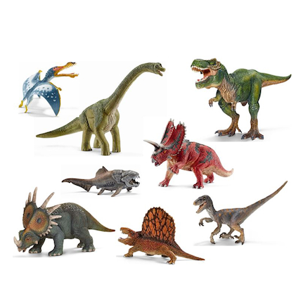 Small World Schleich Dinosaurs Set 8pcs  large
