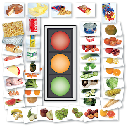 Traffic Light Food Game 1m display and A5 cards  large