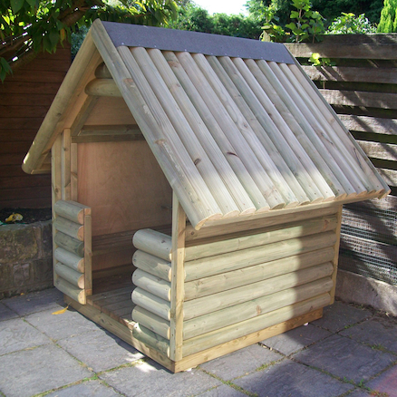 Outdoor Log Play Hut  large
