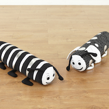 Black and White Bolster Cushions 2pk  medium